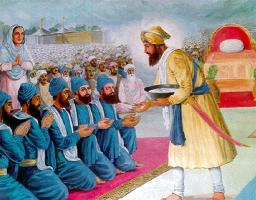 Guru Gobind initiates the